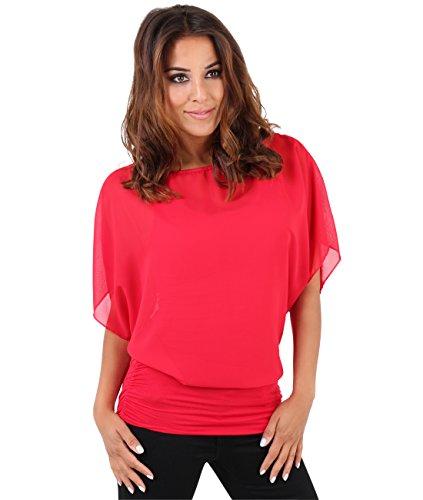 Krisp Damen Bluse 3559, Rot (Rot 3559 4), 38 (Herstellergröße: 10)