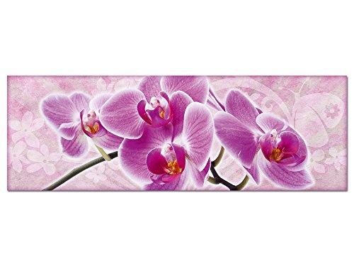 GRAZDesign Wandbild Orchideen Bilder aus Hartschaum Kunstdrucke, Wanddeko Wohnzimmer Schlafzimmer Blumenbilder Romantik Landhaus Shabby Chic / 150x50cm