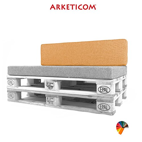 Arketicom Pallett-One, Beck Cushion for sofa Euro pallet in various sizes and colors Polyurethane High Density HD Cotton Blends for terraces and gardens. 1000% Made in Italy