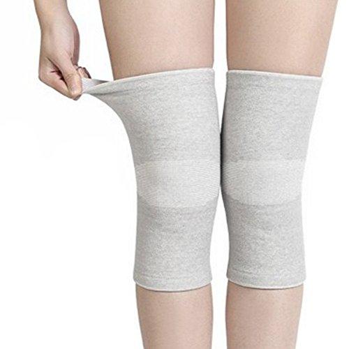 Carbón de bambú fibra compresión elástica rodillera almohadillas pierna rótula apoyo danza para deportes al aire libre voleibol baloncesto Ciclismo Escalada Yoga tamaño mediano