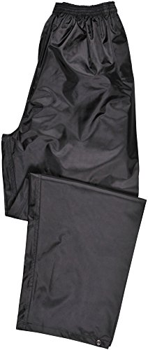 Portwest Klassische Regenhose, für Erwachsene, klassischer Schnitt, L, schwarz -