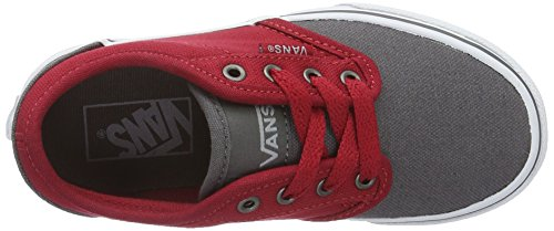 Vans  Yt Atwood, Sneakers Basses garçon Gris (2 Tone Gray/red)