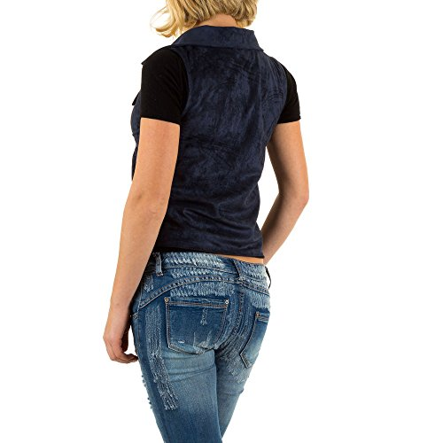 iTaL-dESiGn - Blouson - Cape - Femme Bleu