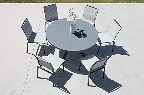 IMAGIN - Salon de Jardin Table Ronde + 6 chaises Provence