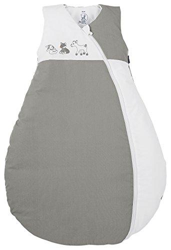 Sterntaler Schlafsack für Kleinkinder, Ganzjährig, Wärmeregulierung, Reißverschluss, Größe: 110, Waldis, Weiß/Grau