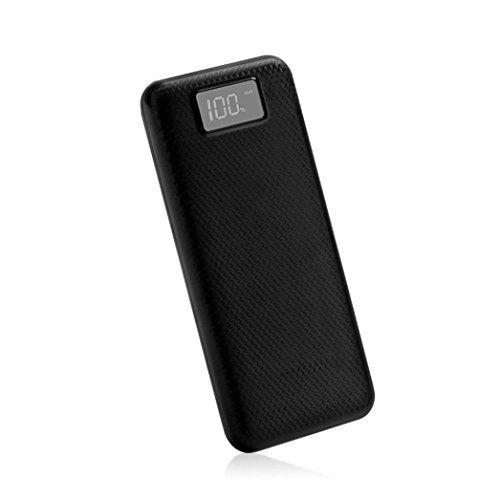 samLIKE 5 V 2A Dual USB Energienbank Fall 8x18650 Ladegerät DIY Box Fall Kit für Telefon Keine Batterie (Schwarz) (Iphone 6 Solar-fall)