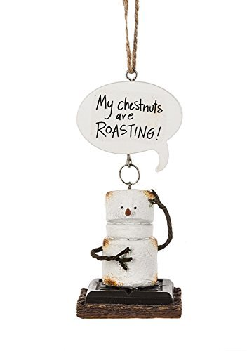 Toasted Smores My Chestnuts Are Roasting Christmas Holiday Ornament by Midwest-CBK
