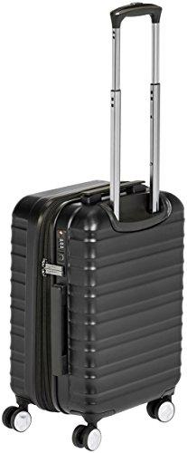 AmazonBasics – Hochwertiger Hartschalen-Trolley mit Schwenkrollen und eingebautem TSA-Schloss – 55 cm, Handgepäck, Schwarz, Genehmigt als Handgepäck auf vielen Airlines - 4