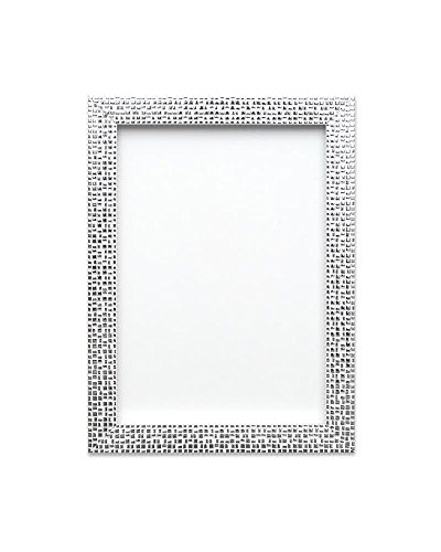 "Flat Bright/Mirror effect/ Mosaic Picture/Photo/Poster frame – With an MDF backing board - Ready to hang - With a High Clarity Styrene Shatterproof Perspex Sheet – Silver Bling - 10"" x 8"" - FBA - FBMEMosaicP-SLVRBLG-10-8"