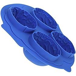 Molde Cubo de Hielo Bandeja Forma de Cerebro - Azul