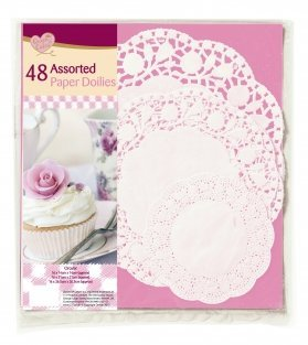 48 Assorted Paper Doilies