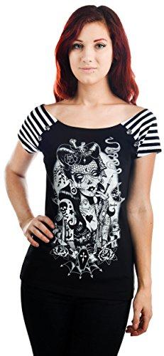 too-fast-brand-t-shirt-bolivar-t-shirt-lucky-13-schwarz-s