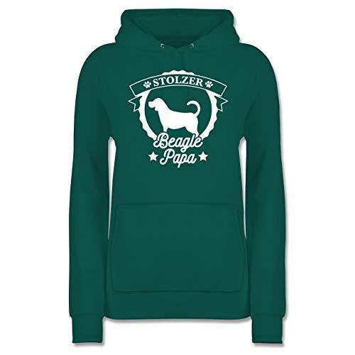 Shirtracer Hunde - Stolzer Beagle Papa - XXL - Türkis - JH001F - Damen Hoodie -