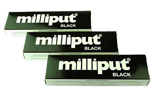3-x-confezione-milliput-stucco-epossidico-nero-modellare-scultura-ceramica-ardesia-riparazione-x1019