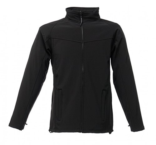 Regatta Mens Uproar Softshell Jacket TRA642 Grey All Black