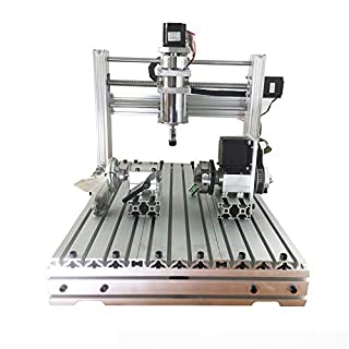 Purewords CNC 3040 400w 4 Axis USB Port 3D Drilling Router DIY cnc3020 Wood Carving Engraving Machine Engraver Milling Machines Kit ...