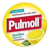 Pulmoll Pastillen Zitrone Spar-Set 5x20g. Zuckerfrei, für Hals und Stimme +Vitamin C.