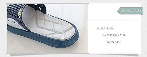 Slip On Pantofole Doccia Antiscivolo Sandali House Mule Mesh Uppers Scarpe piscina bagno Slide per adulti Blue