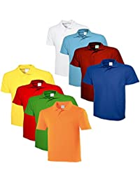 Lime's Multi Color Polo Neck T Shirts For Men ( Pack Of 8 )