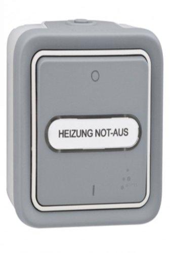 Legrand 69726 Heizung Not-Aus-Schalter Plexo55 Ap.Wd. IP55 Schlagfest - 2-polig