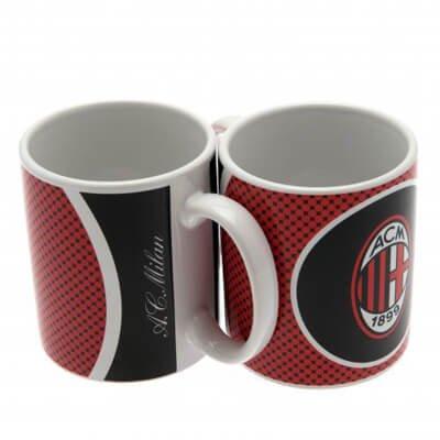 AC Milan - Tasse en céramique officielle (310 ml) (Rouge/Blanc/Noir)