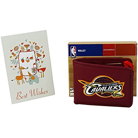 NBA Cleveland Cavaliers Billetero Hombre Nino Monedero Bolsillo