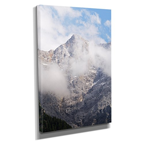 Zugspitze - Kunstdruck auf Leinwand (20x30 cm) zum Verschönern Ihrer Wohnung. Verschiedene Formate auf Echtholzrahmen. Höchste Qualität. (Canvas Rucksack Everest)