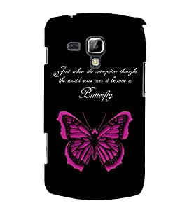 FUSON Life Is Butterfly 3D Hard Polycarbonate Designer Back Case Cover for Samsung Galaxy S3 Mini I8190 :: Samsung I8190 Galaxy S Iii Mini :: Samsung I8190N Galaxy S Iii Mini