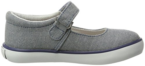 Ralph Lauren Pippa, Mary Jane fille Blau (Blue chambray W/ white pp)