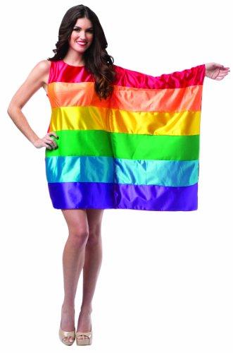 egenbogen-Flagge Damenkleid (Erwachsene 4-10) (Gay Pride Kostüme)