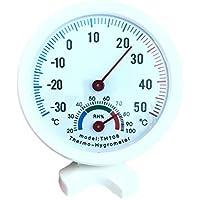 Zerama Multifuncional Interior higrómetro Temperatura del termómetro del Metro de la Humedad del Sitio casero de bebé Oficina