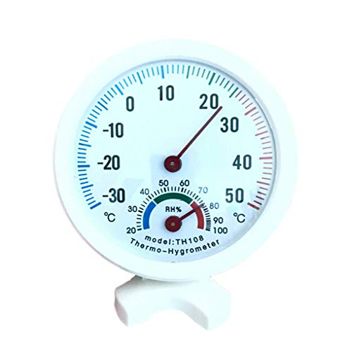 Sunlera Multifunktionale Innen Hygrometer-Thermometer-Temperatur-Feuchtigkeits-Messinstrument Home Office Baby Room