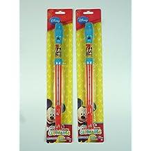 """'Lot de 2flûtes à bec Disney, """"Mickey Mouse, Flûte à Bec, petit cadeau, mitbringsel, Idée Cadeau, tombola tombola"""