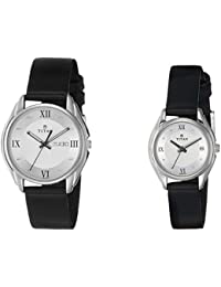 Titan Bandhan Analog Silver Dial Couple's Watch -NJ15782489SL03