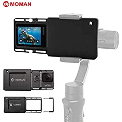 Moman GoPro Adaptateur Plaque de montage Support de Caméra d'action pour GoPro 6/5/4/3/3+ DJI Osmo Mobile 2 Zhiyun Smooth 4 Smooth Q Gimbal Stabilisateur Handheld