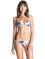 Roxy Tiki Tri/Tie SI J MDA6 - Traje de baño para mujer, multicolor, talla L