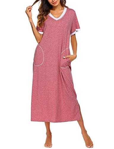 Camicia pigiama lunga tunica donna camicia da notte autunno invernale pigiami dress sleepwear donna