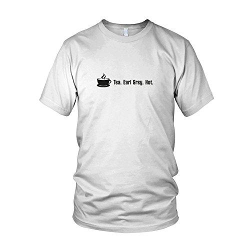 Tea. Earl Grey. Hot. - Herren T-Shirt Weiß
