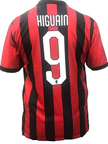 AC Milan MILAN maglia GONZALO HIGUAIN NUMERO 9 replica prodotto ufficiale 2018-2019 autorizzato (taglie 2 4 6 8 10 12 ANNI) adulto (S M L XL)