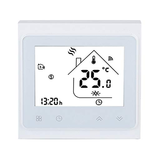 Smart WiFi Thermostat, LCD Touchscreen Heizungsthermostat, Timing Programmierungs App Steuerung für elektrische Heizungsventil Stellgliedsteuerung