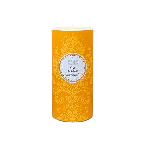 Shearer Candles SC7605 Spring Couture Bougie colonne parfumée Ambre/rose 15,2 cm