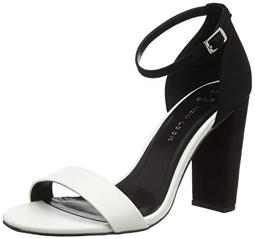 New Look Damen Wide Foot Tarona Peeptoe Pumps, (Black Pattern 9), 42 EU