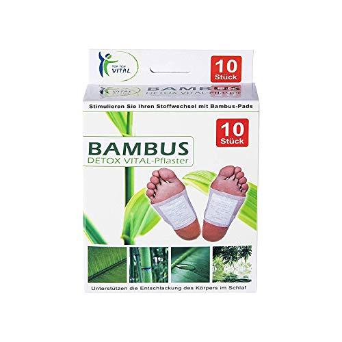 10 Bambus Vital-Pads Fußpflaster Detox, Energiepflaster entschlacken und reinigen auf traditioneller alt chinesische Art und Weise -100% natürlich -