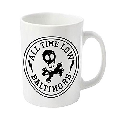 All Time Low Baltimore Skull City Official New White Boxed Mug Boxed Mug