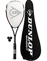 Dunlop Nanomax Tour raqueta de Squash + tapa + 3 pelotas de Squash £195