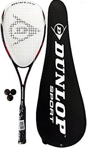 Preisvergleich Produktbild Dunlop Nanomax Tour Squashschläger + Cover + 3 Squashbällen 195