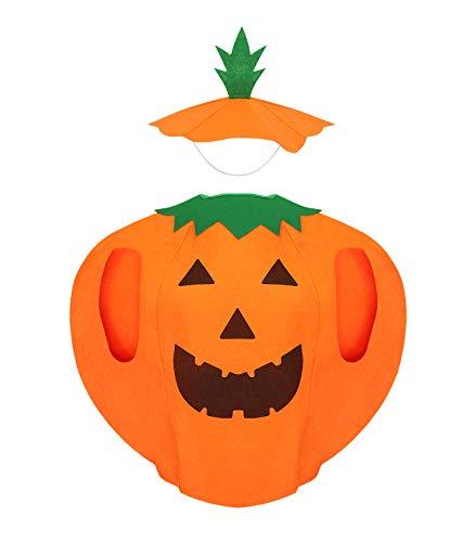 Iso Trade Kostüm Kürbis Verkleidung Kinder 2 Teile Vlies Klettverschluss Halloween Party #6410 (Die Schule Motto Party Kostüm)