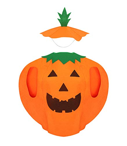 Iso Trade Kostüm Kürbis Verkleidung Kinder 2 Teile Vlies Klettverschluss Halloween Party #6410