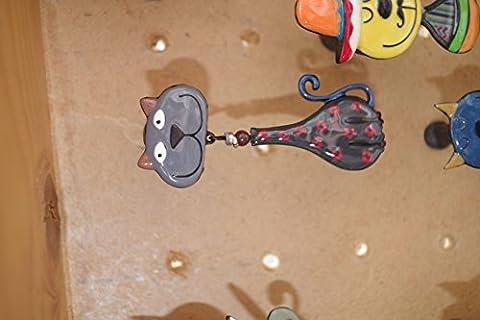bouton de commode chat tête ovale