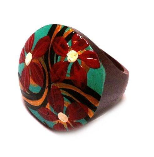 femmes-bois-chic-net-sono-bague-en-bois-fleurs-peintes-a-la-main-bijoux-vert-orange-rouge-56